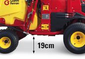 + 5 cm in height from ground level. Clearance from ground level increased from 14 to 19 cm.