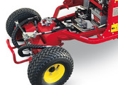 "Trelleborg 15"" rear tyres. Broader tread ensuring less pressure on the ground. Greater traction for 4WD models."